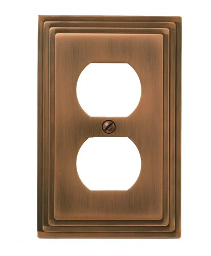 Amerelle 84DAC Steps Cast Metal Wallplate, Antique (Antique Copper Cast)