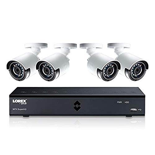 (Lorex 4MP Super HD 4 Channel Security System ( LHA41041TC4B) with 1TB DVR and 4 Super HD 4MP Cameras with Color Night Vision)