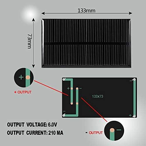 GuoQiang Zhou LDTR-WG0069 / D 6V 210mA 133 x 73mm Polykristalline Siliziumsolarzelle - SCHWARZ