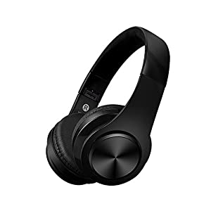 CIC Fone De Ouvido Dobrável Bluetooth Microfone Atende Ligacao On Ear Isolamento de Ruído Externo e Som Stéreo Integrado e Suporte para Celulares, PC e TV, Preto