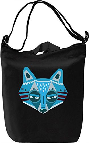 Blue Fox Borsa Giornaliera Canvas Canvas Day Bag| 100% Premium Cotton Canvas| DTG Printing|