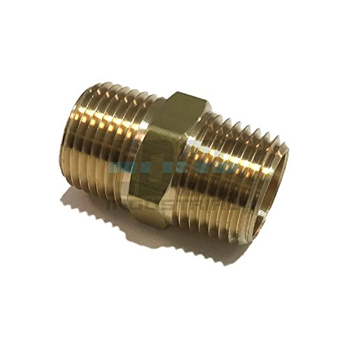 EDGE INDUSTRIAL Brass HEX Nipple 1/2