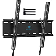 #LightningDeal Tilting TV Wall Mount Bracket Low Profile for Most 23-55 Inch LED, LCD, OLED, Plasma Flat Screen TVs with VESA 400x400mm Weight up to 115lbs by PERLESMITH