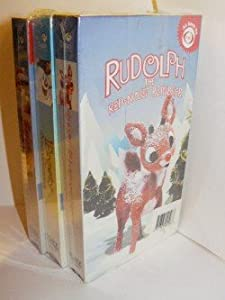 Childrens Christmas Movie 3 Pack - Rudolph The Red- Nosed Reindeer Frosty The Snowman Santa Claus Is Comin To Town Sony Wonder Vhs by Sony