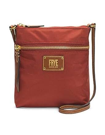 FRYE Ivy Zip Crossbody Nylon Handbag, red Clay