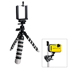 "Fantaseal® 2 in 1 Waterproof Camera Tripod Underwater Camera Mini Tripod Smartphone Tripod Flexible Tripod Outdoor Tripod Travel Portable Tripod Stand Desk Tripod Smartphone Holder Selfie Tripod w/ Cellphone Clip (UP to 5.5"" Screen) for Bell+Howell Splash WP7 Canon PowerShot Casio EXILIM EX-FR100 EX-FR200 Fisher-Price Kid-Tough Fujifilm FinePix XP50 Ion Air Pro 3 Contour ROAM3 Contour ROAM2 Ivation Knox Dual LCD Kodak EasyShare Sport C123 SP360 Nikon COOLPIX Olympus/Panasonic/Sony etc+Smartphone"