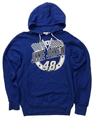 Nascar Racing Mens Blue Jimmie Johnson Driver #48 Car Hoodie Sweatshirt Large