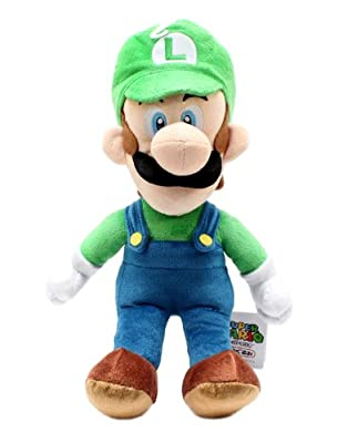 Sanei Officially Licensed Super Mario Plush 15 Large Luigi Japanese Import from Sanei
