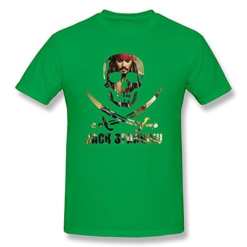 aopo Jack Sparrow Piratas del Caribe O-Neck T Shirt para hombre
