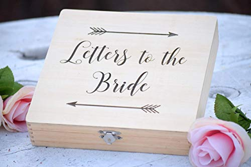 Letters to the Bride Box - Bridal Box - Gifts for the Bride - Anniversary Box - Love Letter Box - Keepsake Box - Grooms Gift - Engraved Box -