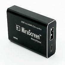 MiraScreen Matchbox USB to HDMI Converter 1080P Screen Mirror Display Dongle Media Player Streaming TV Stick