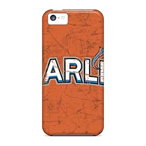 Anti-Scratch Cell-phone Hard Covers For Iphone 5c With Support Your Personal Customized Attractive Miami Marlins Image TimeaJoyce