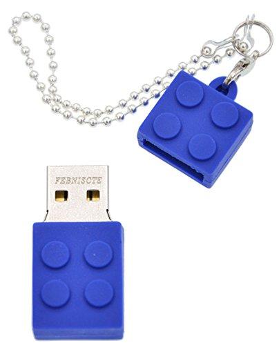 FEBNISCTE Key Chain Model Memory Stick Blue Building Block 4GB USB 2.0 Thumb Pen Drive - 100 Pack by FEBNISCTE (Image #2)