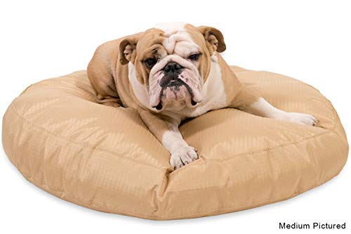 K9 Ballistics Round Dog Bed Large Nearly Indestructible & Chew Resistant, Waterproof Washable Tough Nesting Pillow for Chewing Puppy - for Large Dogs 42