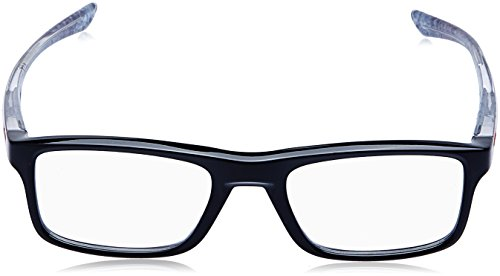 31ded57a56b OAKLEY Eyeglasses PLANK 2.0 (OX8081-0253) Polished Black 53MM at Amazon  Men s Clothing store