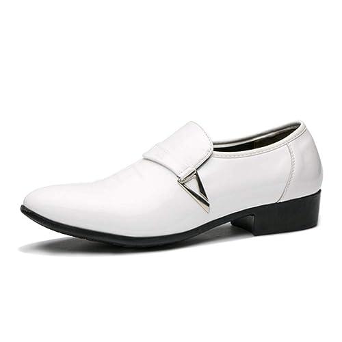 Daytwork Moda Cuero Plataforma Zapatos Hombre - Slip On ...