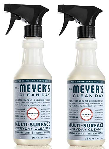 Mrs Meyer's Snowdrop Multi-Surface Spray, 16 OZ (pack of 2)