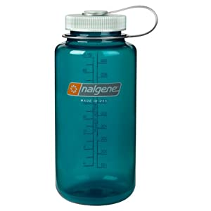 Nalgene Tritan Wide Mouth BPA-Free Water Bottle, Trout Green, 32-Ounces