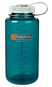 Nalgene Tritan Wide Mouth BPA-Free Water Bottle, Trout Green, 1 Quart