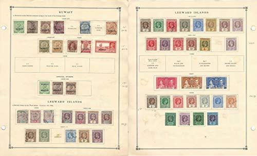Kuwait & Leeward Stamp Collection 1890-1939 on Scott International Pages