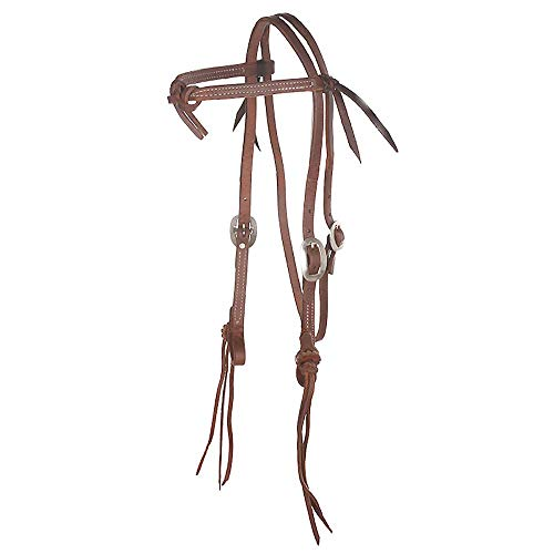 NRS Tack Rattlesnake Knotted Browband Headstall N/A Oiled ()