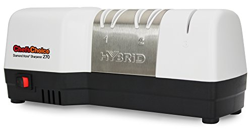 Chef'sChoice 270 Hybrid Diamond Hone Knife Sharpener Combines Electric and Manual Sharpening...