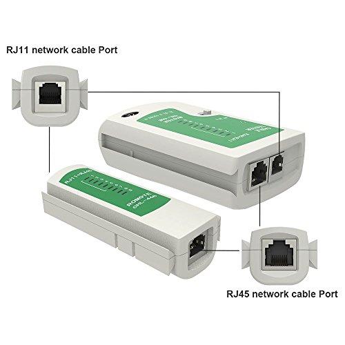 Merkmak RJ45 RJ11Cat5 Cat6 LAN Cable Tester Handheld Network Cable Tester Wire Telephone Line Detector Tracker Tool kit