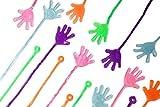 Toys : Neliblu Sticky Fingers, Fun Toys, Party Favors, Wacky Fun Stretchy Glitter Sticky Hands, Party Favors, Birthday Parties, Toys for Sensory Kids, 24 Piece