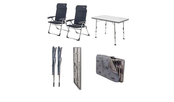 Crespo Stuhl-/Tischset Juego de sillas y mesas, Gris: Amazon ...
