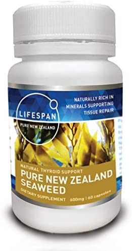 Pure New Zealand Iodine Pills, High Potency Immune System Boost, Life Extension, Strong Antioxidant; 600 mg, Non-GMO Sea Kelp. 60 Veggie Caps. Sale