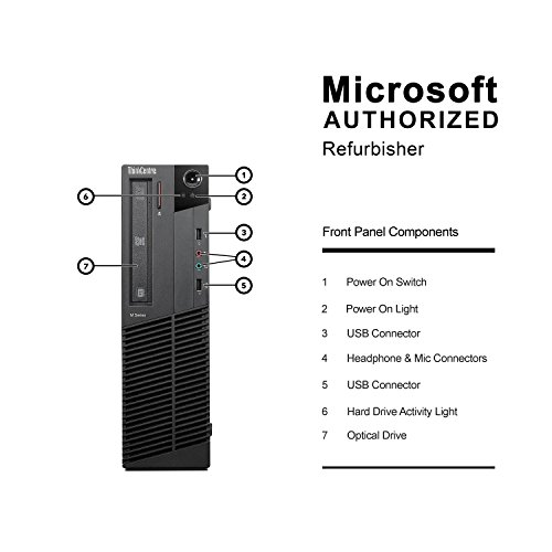2018 Lenovo ThinkCentre M77 Small Form Factor Desktop Computer (AMD Athlon II X2 220 2.8GHz, 8GB DDR3 RAM, 500GB, DVD-ROM,USB WIFI, Windows 10 Pro 64-Bit) (Certified Refurbished) by Lenovo (Image #2)