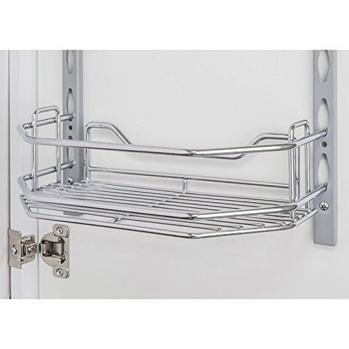 One HR-DMT6-R Chrome 6 Inch Deep Spice Rack Tray for Door Mounted Spice Rack Systems