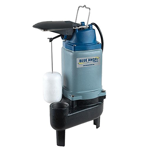 Blue Angel Pumps F50SW 1/2 HP 120V Commercial-Grade Submersible Sewage Pump by Blue Angel Pumps