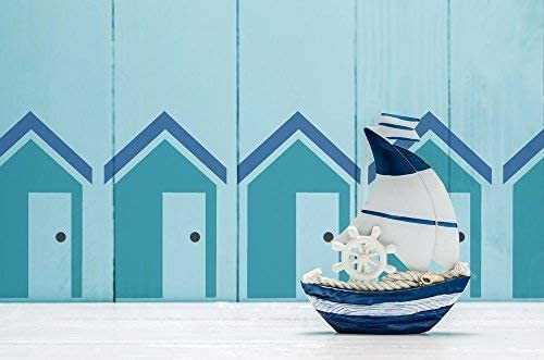 A5 BEACH HUT Chalet Plantilla Costa NÁUTICO Temática Decoración Plantilla Pintura paredes, telas, muebles REUTILIZABLE