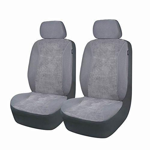 Banner Cover (Flying Banner Gray Corduroy Universal Car Seat Covers Fashion Seat Covers for Car with Airbag Compatible in both Side)