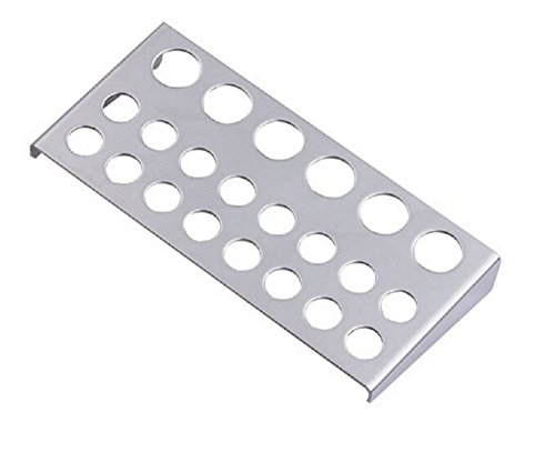 EUBUY Stainless Steel 22 Holes Silver Tattoo Pigment Ink Caps Cups Stand Holder