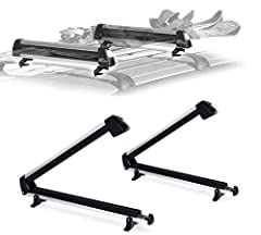 Ski Car Rack hold up to 6 Pair Skis or 4 Snowboards, is also ideal for carrying fishing rods, paddles, ski poles and water skis Holds skis and snowboards securely with Ultra-Soft rubber arms that grip without scratching the surfaces Universal...
