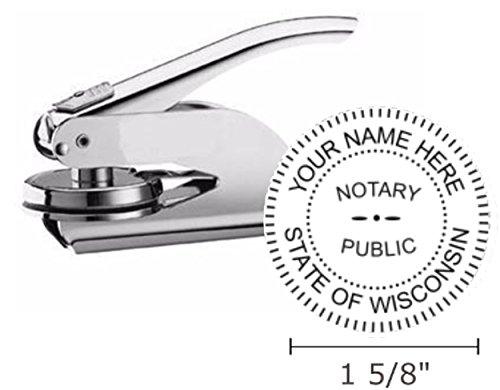 (Wisconsin Notary Seal Embosser, Pocket/Hand Model, 1-5/8