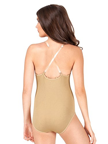 (Child Seamless Camisole Undergarment Leotard ,N234CNUDM,Nude,Medium)