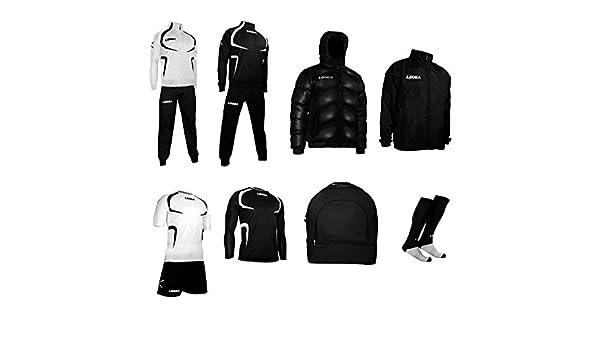 Legea Tornado - Conjunto de ropa deportiva Blanco blanco/negro Talla:M: Amazon.es: Deportes y aire libre