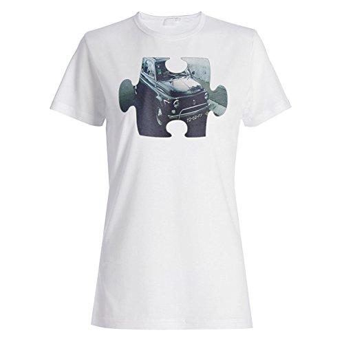 Puzzle Jahrgang alten schönen Auto Bild Damen T-shirt e647f