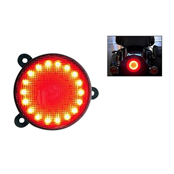 Sans Bike Round Red Led Brake Light Assembly for Royal Enfield Classic 350