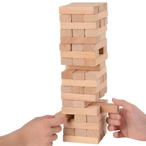 WOODEN TOWER GAME, SOLD BY 8 PIECES by DollarItemDirect