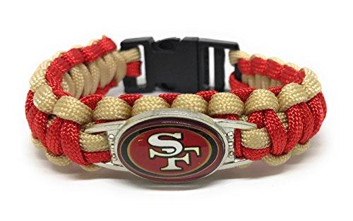 Sportsbraceletspro Military Grade Paracord American Football Team Adult 7 7  Bracelets  49Ers