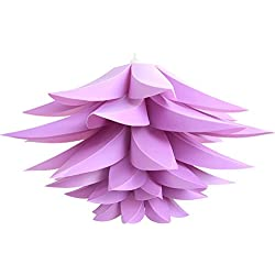 Oumeiou DIY Lotus Chandelier IQ PP Pendant Lampshade Ceiling Room Decoration (Purple Pack of 2)