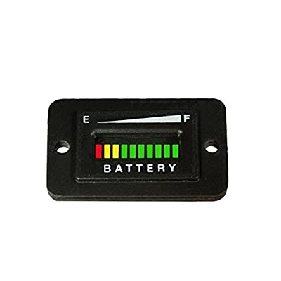 Automotive Authority LLC 36 Volt EZGO Club Car Yamaha Golf Cart Battery Indicator Meter Gauge Rectangle: Automotive