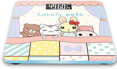 LCDディスプレイ付きデジタルスケールおよび漫画スタイルの重量スマートアプリ同期構成モニタースケール