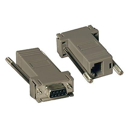 amazon com: tripp lite null modem serial rs232 modular adapter kit 2x (db9f  to rj45f)(p450-000): electronics