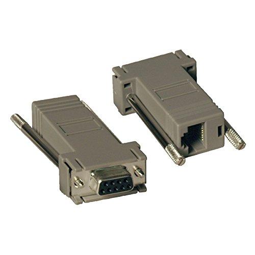 2PC RJ45 To DB9 Null Modem Ada TRIPP LITE P450-000