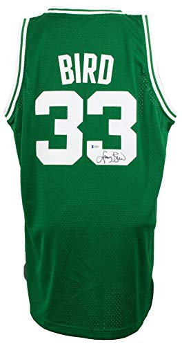 Larry Bird Signed Boston Celtics Hardwood Classics Jersey XL BAS